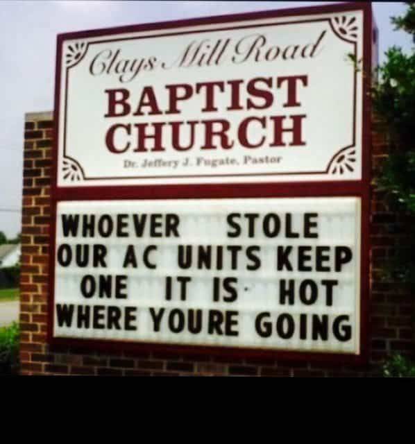 16 Of The Most Hilarious Church Signs In America