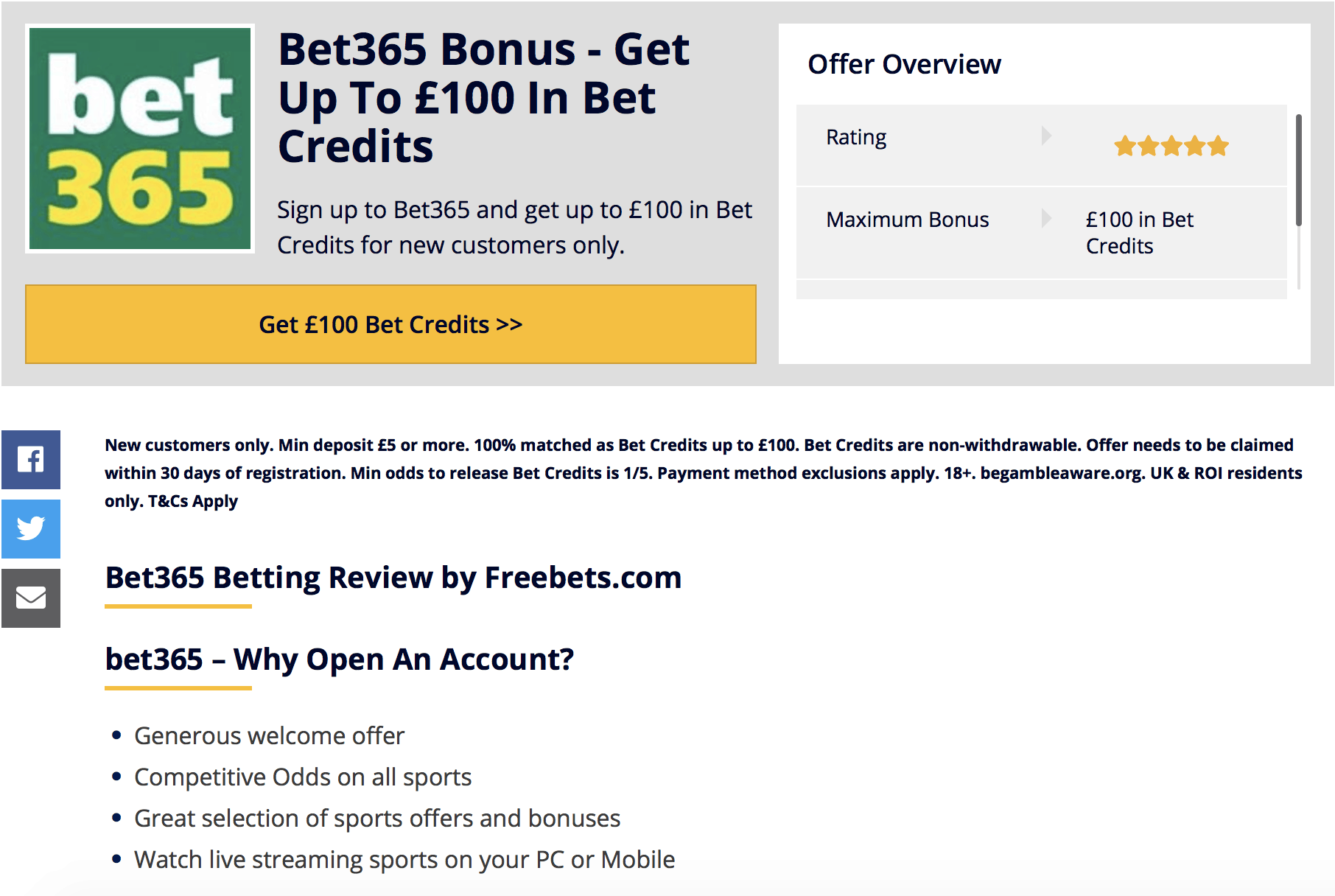 sign up and get free bet